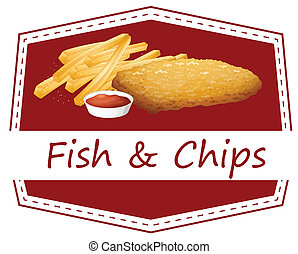fish and Chips - Illustration of fish and chips