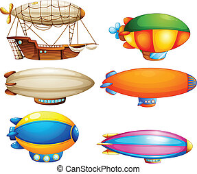 Sets of flying objects - Illustration of the sets of flying...