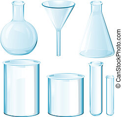Science equipments - Illustration of chemical science...