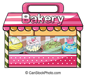 A bakery selling baked goodies - Illustration of a bakery...