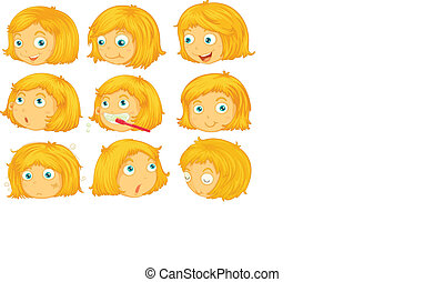 Blonde hair Illustrations and Clip Art. 4,681 Blonde hair royalty ...