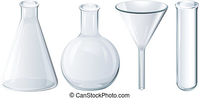 Chemical equipment - Illustration of four chemical equipment