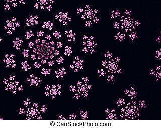 Beautiful Purple Fractal Flowers