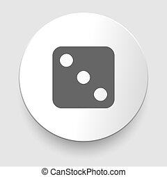 Vector illustration of one dices - side with 3