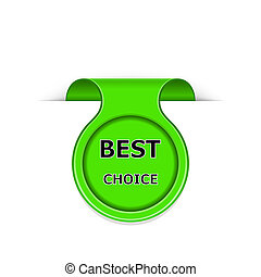 Vector bookmark with best choice message