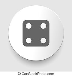 Vector illustration of one dices - side with 4