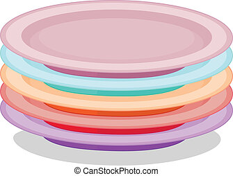 Stack of plates - Illustration of a stack of plates
