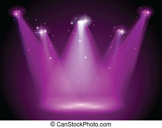 A purple stage - Illustration of a purple stage