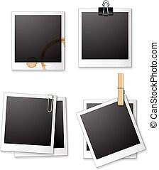 polaroid frames - Illustration of four different polaroid...