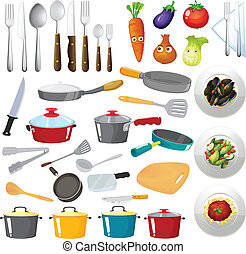 kitchen utensils - Illustration of kitchen untensils