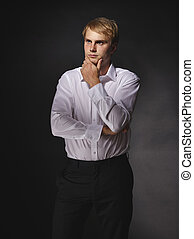 Casual businessman - Casual and handsome modern businessman...