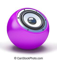 Purple sphere speaker