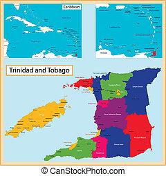 Trinidad, tobago, karta