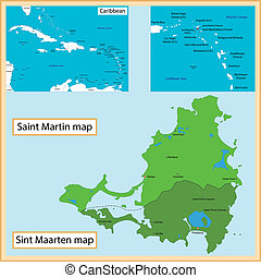 Saint Martin and Sint Maarten - Map of Saint Martin and Sint...