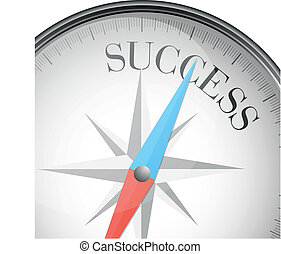 compass success - detailed illustration of a compass with...