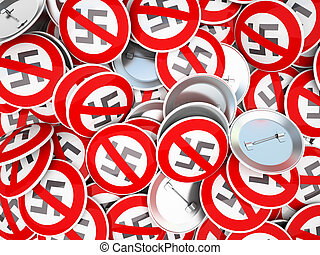 Buttons with swastika symbol  illustration