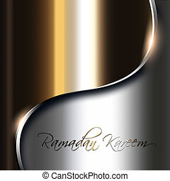 metal shiny background with ramadan kareem wishes