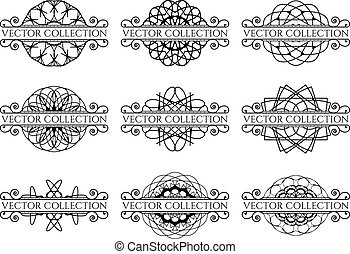 Calligraphic design elements Vector set of page decorations