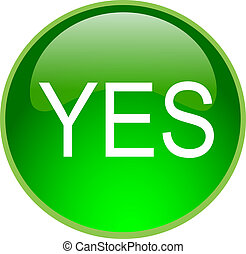 green yes button - illustration of a green yes button