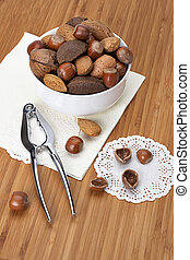 Assorted Whole Nuts In A Bowl.