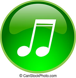 green sound button