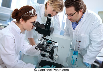 laboratory - a group of scientists working at the laboratory...