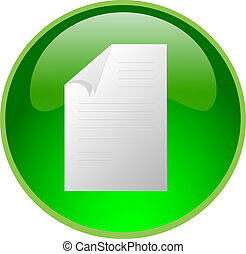 green file button - illustration of a green file button