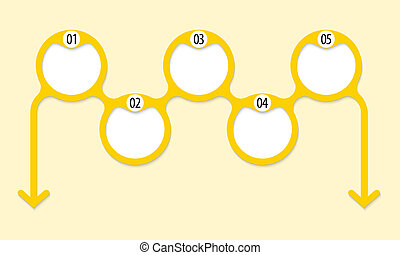 five connected circles for entering any text