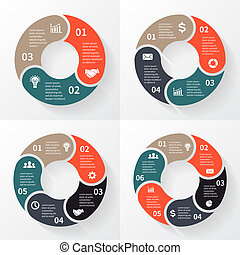 Vector circle arrows for infographic - Layout for your...