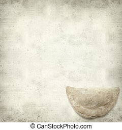textured old paper background with truchas de batata,...