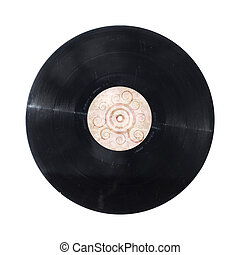 Vinyl record isolated - Vinyl record disc with funky design...