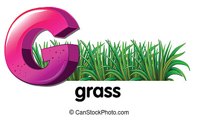 A letter G for grass - Illustration of a letter G for grass...