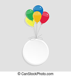 Circle with copy space and balloons