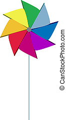 Pinwheel colorful like rainbow - Colorful pinwheel with...