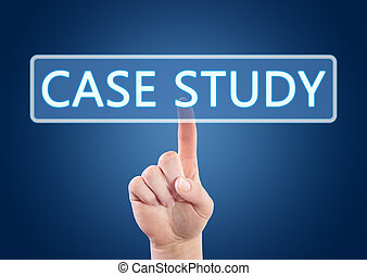 Case Study - Hand pressing Case Study button on interface...