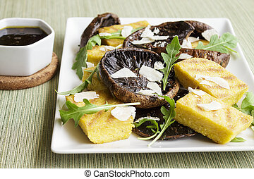 Balsamic Portobellos and Grilled Polenta - Balsamic...