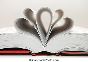 The open book with shaped pages