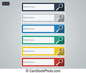Search bar set - Search Bar with Colorful Color Set