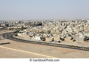 Iran - The view of the new town of Yazd, Iran The city has a...