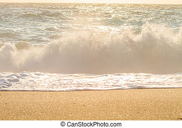 Crashing waves in Lefkada Greece