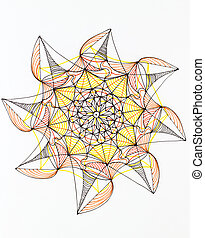 colorful indian ornament - hand drawn interesting colorful...