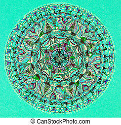 colorful mandala design - hand drawn beautiful mandala...