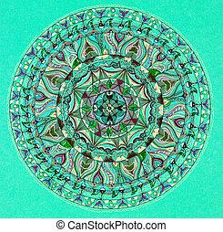 coloridos, Mandala, desenho