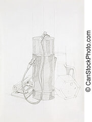 artistic study of objects - artistic study of still life...