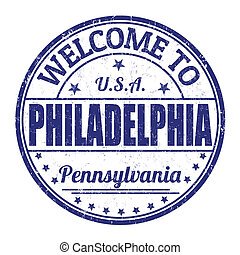 Welcome to Philadelphia stamp - Welcome to Philadelphia...