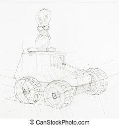 blueprint of toy car