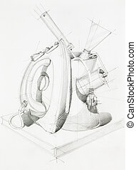 composition with objects - artistic study of objects shapes...