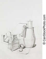 artistic study of objects - artistic study of composition...