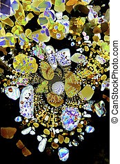 Kaleidoscopic sand grains - Micro photography of sand grains...