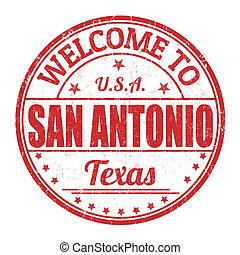Welcome to San Antonio stamp - Welcome to San Antonio grunge...